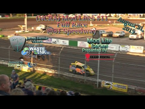 (NCRA) Mod Lites #11, Full Race, 81 Speedway, 08/31/19