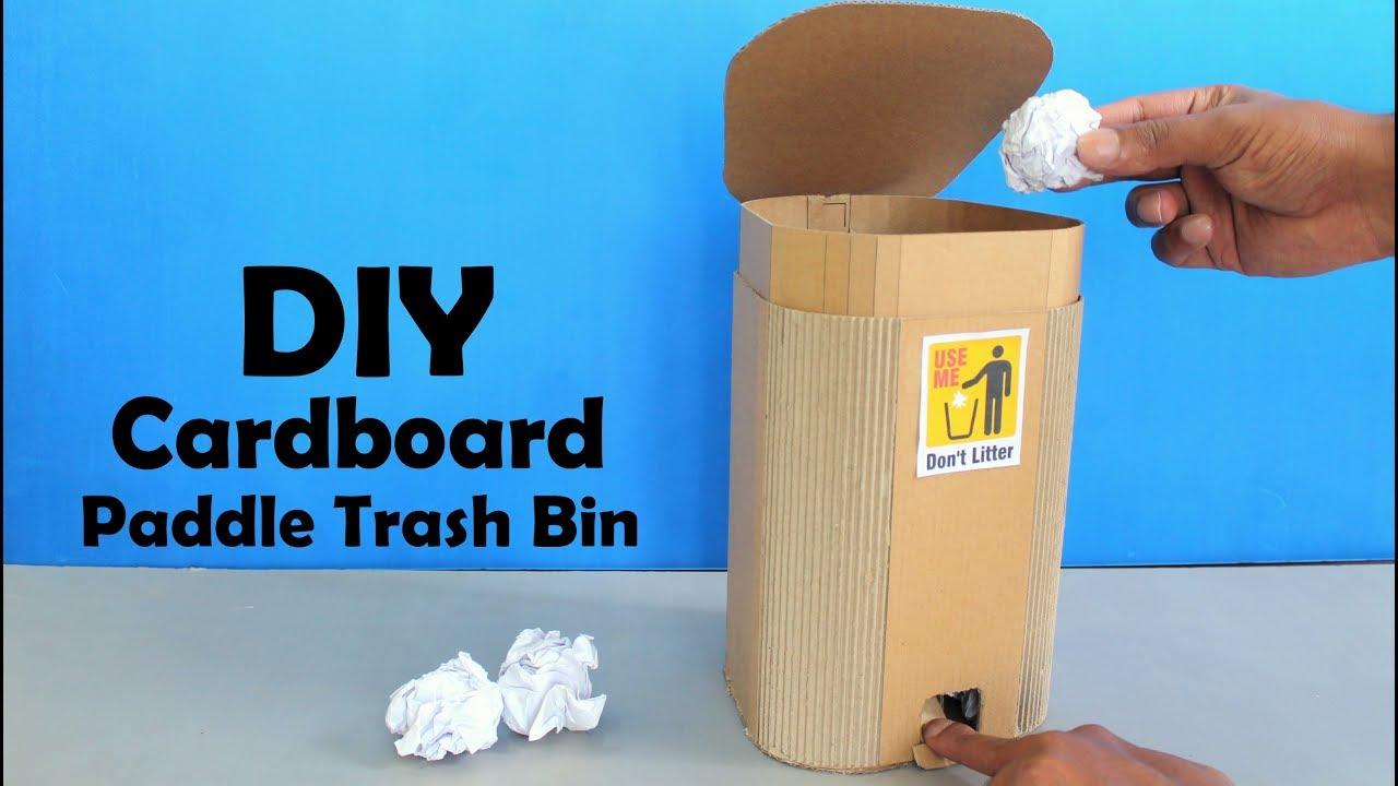 How to Make Cardboard Paddle Trash Bin