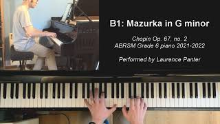 B:1 Mazurka in G minor (ABRSM Grade 6 piano 2021-2022)