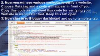 How To Verify Blogger Website To Google |  | Monu Seo Information | Seo Services In Mohali