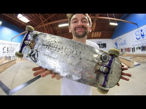 THE WORLD'S LIGHTEST METAL BOARD?!?!?! | YOU MAKE IT WE SKATE IT EP 194