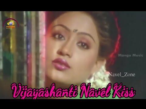 Vijayashanti Navel Kiss Complitation