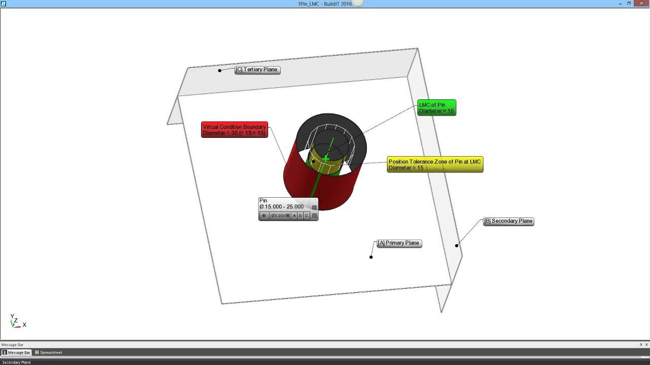 GD&T for Beginners: MMC & Bonus Tolerance, Explained in 3D - BuildIT