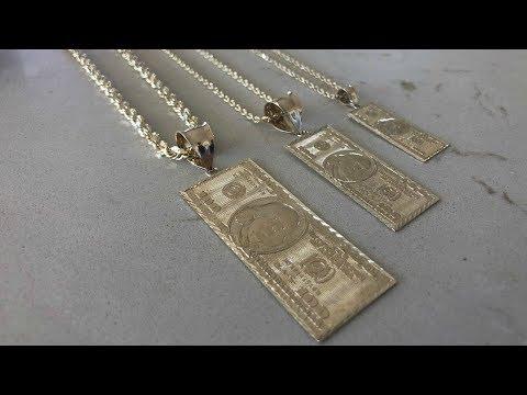 GOLD 100 Dollar PENDANT?!?!