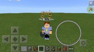 Как сделать огненый портал в Minecraft PE 0.13.1 : 0.14.0 БЕЗ МОДОВ