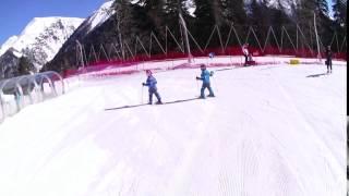 катание на горных лыжах, дети