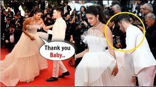 Nick Jonas SAVES Wife Priyanka Chopra Jonas From Embarrassing Moment at Cannes Red Carper 2019