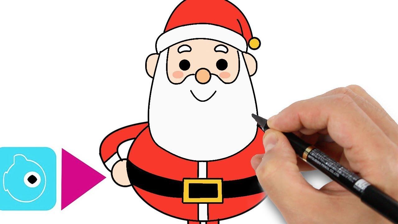 Comment Dessiner Un Pere Noel Apprendre A Dessiner Tuto Youtube