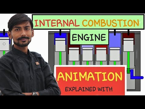 [HINDI] INTERNAL COMBUSTION ENGINE EXPLAINED WITH ANIMATION~