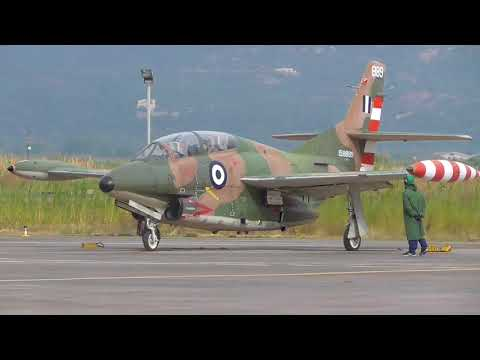HAF T-2E Buckeye engine start up and Take off
