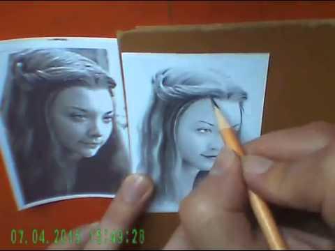 Natalie Dormer miniature portrait timelapse video