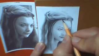 Natalie Dormer miniature portrait timelapse video
