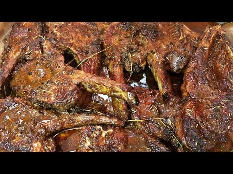 Easy Butter Seared Herbs Oven Lamb Chops | How To Make Lamb Chops | Lamb Chops Recipe | Lamb