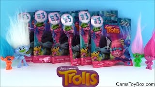 SERIES 3 TROLLS Blind Bags Dreamworks Glitter Surprise Toy Opening Fun Names Kids Playing Toys
