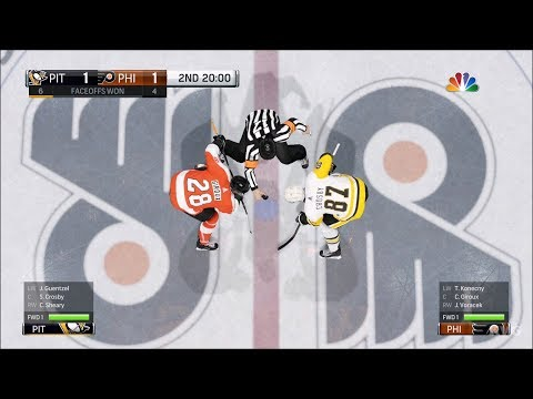 NHL 18 - Philadelphia Flyers vs Pittsburgh Penguins - Gameplay (HD) [1080p60FPS]