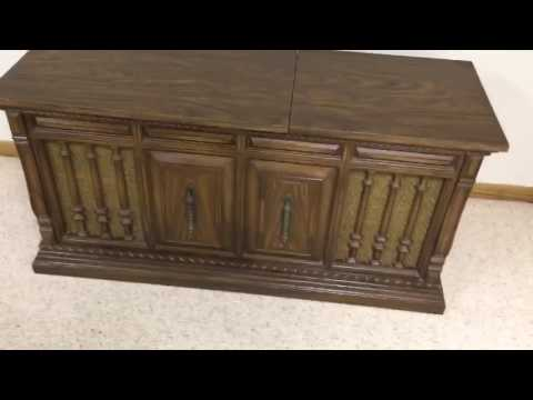 Vintage Zenith stereo console converted to wifi wireless music player
