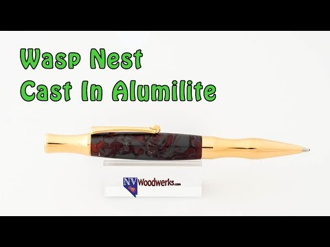 The Wasp Nest Pen - Dunkin' Junk! Live Replay | Resin Casting Pen Blanks