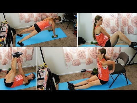 35 Min Small Space Full Body HIIT Workout w/ Elizabeth - HASfit High Intensity Interval Training
