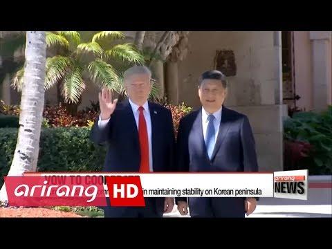 Trump, Xi agree North Korea should stop its provocative behavior