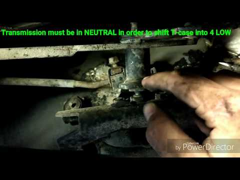 How to adjust transfer case linkage on jeep cherokee xj