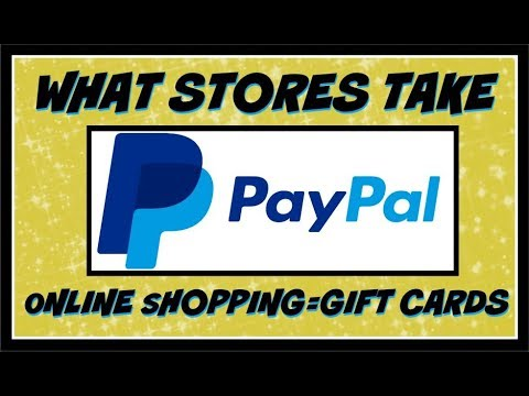What Stores Take PAYPAL With Online Shopping