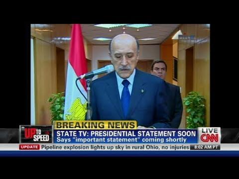 CNN: Egyptian President, Hosni Mubarak steps down