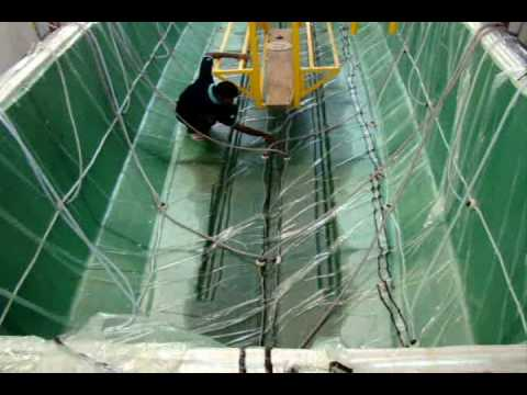 Resin infusion of 43 footer fishing Boat