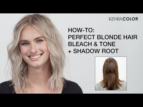 HOW TO: Perfect Blonde Hair - Bleach & Tone + Shadow Root | Kenra Color