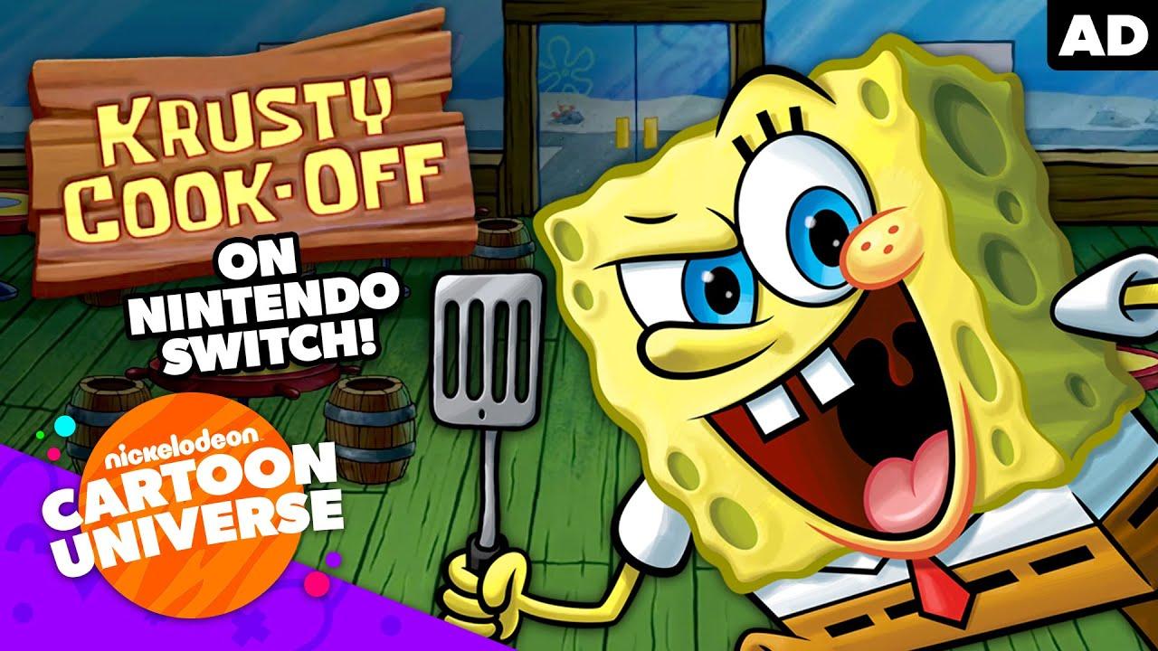 SpongeBob Krusty Cook-Off Game on Nintendo Switch!  🎮   Nickelodeon Cartoon Universe