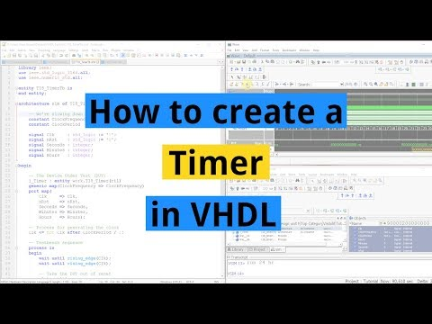 How to create a timer in VHDL