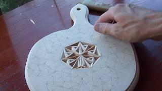 Геометрическая резьба по дереву. Урок 34 часть 2 (geometric wood carving)