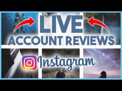 😮 REVIEWING YOUR INSTAGRAM ACCOUNTS LIVE!! 😮