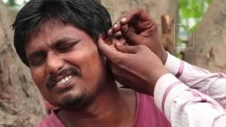 EAR STONES !!! Roadside Ear cleaner in India