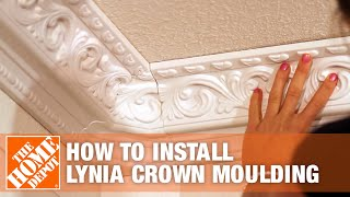 How To Install Lynia Crown Moulding - The Home Depot
