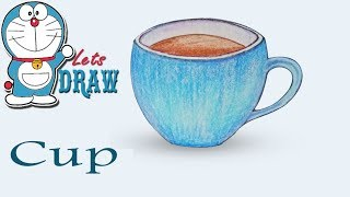 How To Draw Tea Cup step by step ( very easy )