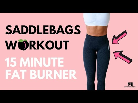 SADDLE BAG WORKOUT // 15 MIN FAT BURN // BEST OUTER THIGH WORKOUT | MR AND MRS MUSCLE