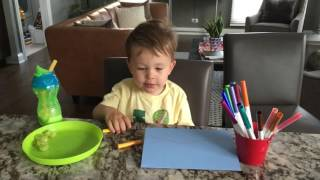 Charlie colors a Father