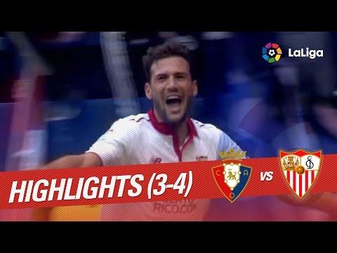 Resumen de Osasuna vs Sevilla FC (3-4)