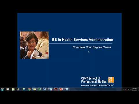 Information Session: BS in Health Services Administration