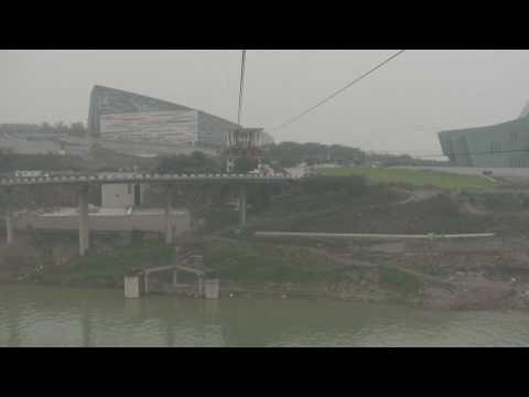 Cable Car Ride Chongqing Part 1 - Jialing River
