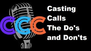 Casting Calls - The Do's and Dont's