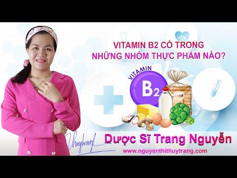 Vitamin B2 có nhiều trong những nhóm thực phẩm nào?