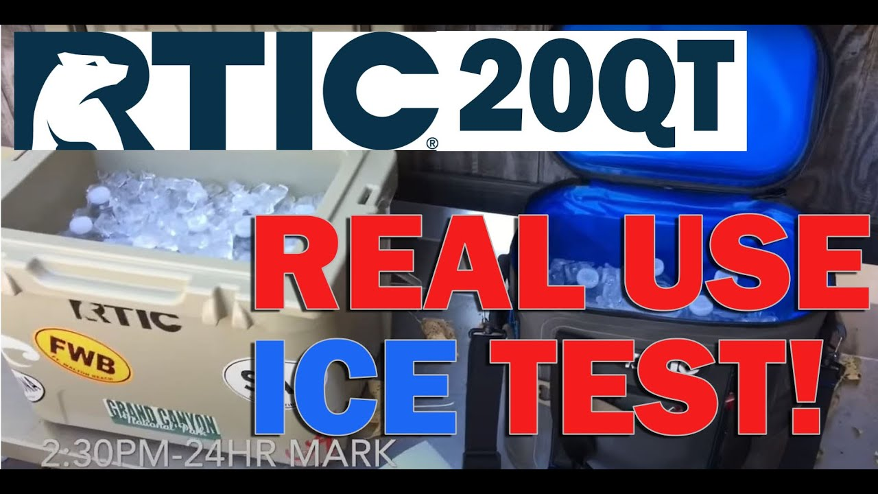 RTIC 20QT vs RTIC Softpak 20 Ice Retention Test