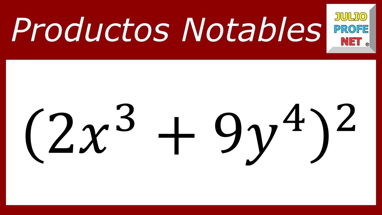 PRODUCTOS NOTABLES: BINOMIO AL CUADRADO (Ejercicio 2)