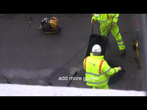 Fixing a pothole in Hastings - under 5 minutes!