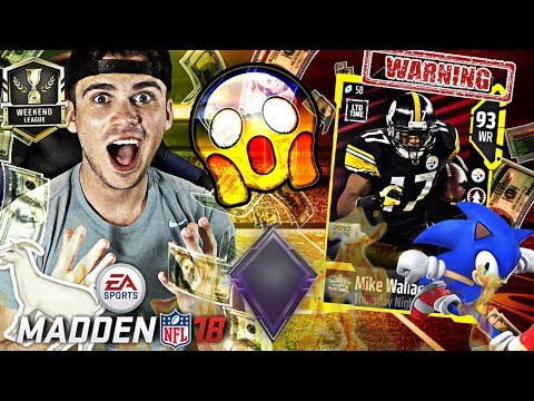THE WEEKEND LEAGUE CHEAT CODE! NEW MIKE WALLACE! | Madden 18 Ultimate Team