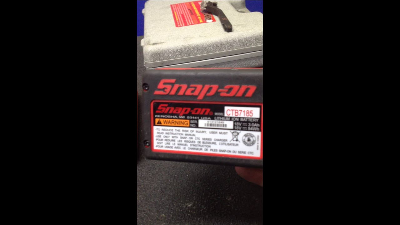 Snap on 18v battery issue 01