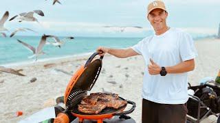 Рыба и Мясо на Гриле на Пляже в Майами Подводная Охота на Монстров