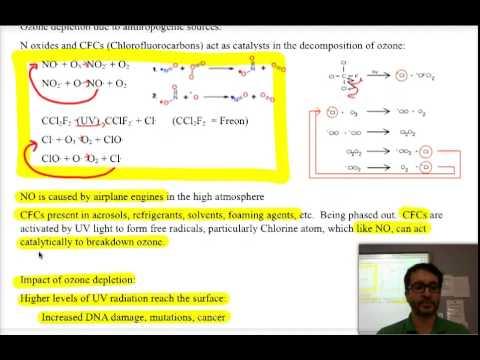 IB Chemistry: Environmental Chemistry-3-Ozone Depletion & Dissolved Oxygen