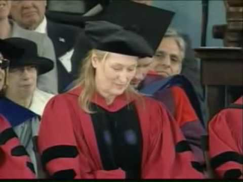 Meryl Streep receives honorary degree at Harvard - 2010